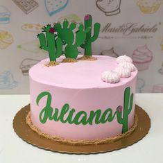 50 Ideias Festa Cactos 24 24- Créditos: @reginafestasoficial Smoothie Prep, Raspberry Smoothie, Apple Smoothies, 17th Birthday, Birthday Cake, Birthday Parties, Fiesta Cake, Cactus Cake, Bday Girl