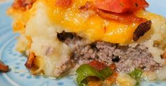 Leftover Mashed Potatoes?  Loaded Up Mashed Potato Beef Pie