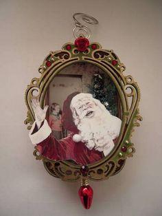 "** Altered Christmas Tin ""Ho Ho Ho"" @craftster"
