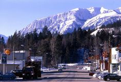 Shot of the town of Marysville, BC and the Canadian Rockies near Kimberley, BC #Kimberley
