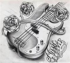 Willem Janssen Guitar Tattoo Design