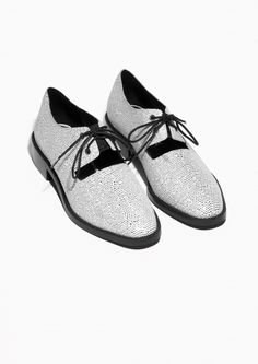 & Other Stories | Eyelet Lace-Up Flats