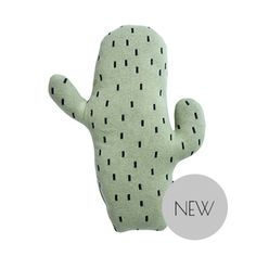 The cutest cactus cushion from OYOY to brighten up your day. Perfect for adding a pop of colour to monochrome, grey or neutral nursery rooms and playrooms. Small Cactus, Mini Cactus, Cactus Cushion, Color Verde Claro, Objet Deco Design, Small Cushions, Style Deco, Baby Store, Nursery Neutral