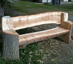 Slab bench