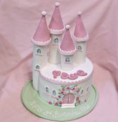 Small princess castle cake