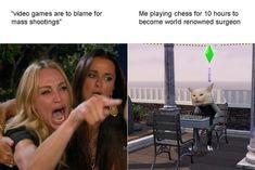 Stupid Funny Memes, Funny Relatable Memes, Haha Funny, Hilarious, Funny Sims, Sims Memes, Sims Humor, The Sims, Sims 4
