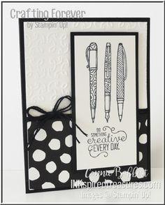 Inkspired Treasures  » Blog Archive   » Saturday Blog Hop – Black & White   Crafting Forever