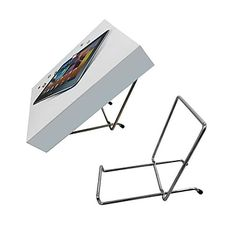 "$73.50 10/Pack - Futech MWE008 Metal Countertop Easel, 7-1/4"" x 3-1/4"" x 4-3/4"", Chrome, 10/Pack Easels, Magazine Rack, Countertops, Chrome, Packing, Learning, Storage, Metal, Home Decor"