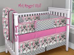custom-rockabilly-punk-gothic-4-piece crib set...boys and girls
