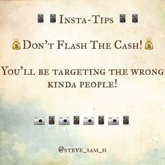 You see it all of the time! People holding wads of cash telling you it's easy to earn just join their biz! Hmmmm...  Are you ever suckered Into this? I doubt it!   To get people to follow you just Be You!! Offer quality content lots of value and let them see the 'real' you! This will attract people to you far more than flashing the cash will!  For more FREE Insta-Training click the link in our Bio!  Please double tap our pic of you enjoyed this post! Follow us to get regular updates on how…