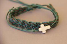 bracelet homme croix bracelet tressé en duo . : Bijoux pour hommes par made-with-love-in-aiacciu