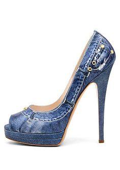 Jean Shoes...too cute!