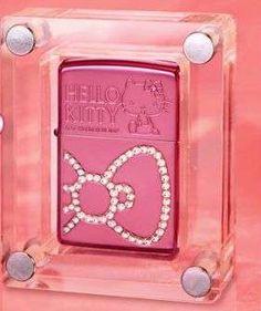 Top 18 Hello Kitty Products Girly Luxury Lighter - prettiest lighter I've ever seen Hello Kitty House, Hello Kitty Items, Here Kitty Kitty, Apple Tv, Apple Watch, Cool Lighters, Hello Kitty Collection, Light My Fire, Ipad