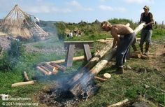 The Celts built their roundhouses from the natural materials available on the…