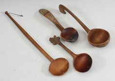 From Norway.. Antique Handcarved Kitchen Spoons.