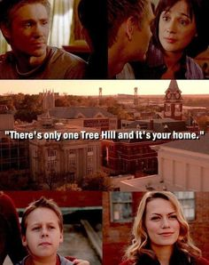 """""""There's only ONE Tree Hill and it's your home"""" Haley to Jamie in the series finale, Karen to Lucas in Season 1 final episode"""