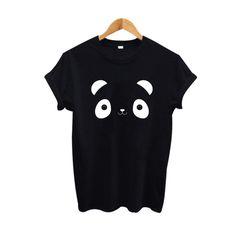 2017 Funny T Shirt Bear Graphic Tees Women Cotton Cartoon Printing Tee shirt Black White Casual T-shirt Big Size XXL  #Affiliate