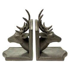 Sagebrook Home Deer Head Bookends - 11091