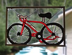 Custom Made Stained Glass Bicycle