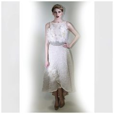 White Swan Evening Gown