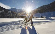 Enjoy the quiet of early evening cross country skiing Winter Walk, Winter Snow, Snow Holidays, Walking Paths, Cross Country Skiing, Salzburg, Alps, Austria, Trail