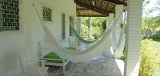 Nice terrace with outdoor furniture and - if you want - hammocks!!