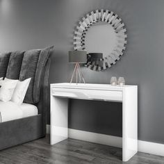 Buy Lexi White High Gloss Dressing Table from - the UK's leading online furniture and bed store Large Furniture, New Furniture, Online Furniture, Bedroom Furniture, Bedroom Decor, Bedroom Ideas, White Dressing Tables, Bedroom Dressing Table, Dressing Table With Stool