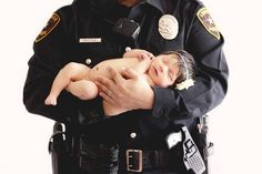 Police officer & baby shot