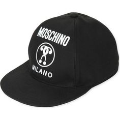 MOSCHINO Logo-print cotton baseball cap ($295) ❤ liked on Polyvore featuring accessories, hats, black, adjustable hats, moschino, baseball caps hats, moschino hat and adjustable baseball hats