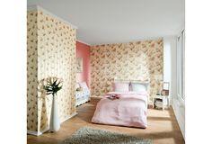 Romantisches Und Verspieltes Design Für Blumen Fans. Eine Tolle Tapete Für  Das Schlafzimmer Und Wohnzimmer