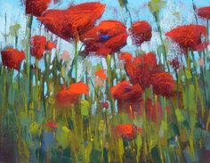 Painting My World: Painting Poppies..- Tips on painting poppies with pastels - http://kemstudios.blogspot.com/2015/04/painting-poppiessome-thoughts.html