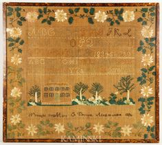 Rought by Mary C. Brown, Aged 10 Years, 1826