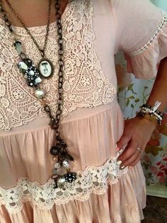 Love the blouse and jewelry