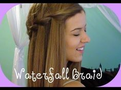 This video is so helpful with learning how to do a waterfall braid. This web page also has many other instructions for cute hair styles.