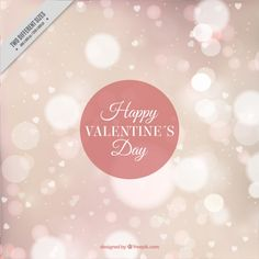 Blurred bokeh background of valentine Free Vector