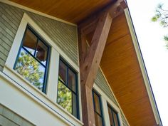 """The home's 1""""x4"""", """"V""""-groove Southern yellow pine soffit material is sealed with a long-lasting, durable marine-grade finish."""