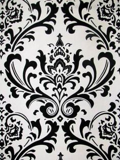 Traditions Black/White | housefabric.com ($10/yd - desk bookshelf backing option 1; also office accents)