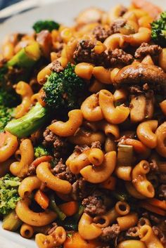 Macaroni chinois - Le Coup de Grâce - The Best Dinner Recipes Beef Macaroni, Macaroni Recipes, Casserole Recipes, Vegetarian Pasta Recipes, Cooking Recipes, Healthy Recipes, Vegetarian Keto, Weeknight Meals, Easy Meals