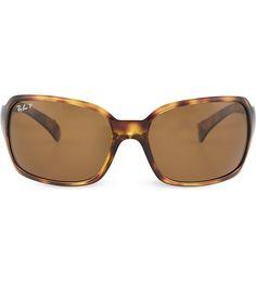 RAY-BAN Havana square sunglasses in tortoiseshell with brown tinted lenses 61 Croatia 2016, Sunglass Frames, Tortoise Shell, Havana, Warm Weather, Lenses, Ray Bans, Pairs, Sunglasses