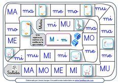 Se trata de diferentes juegos de la oca para aprender a leer que se pueden descargar e imprimir, dedicados a sílabas y palabras con P, L, M, S, N, T, Ñ