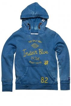 Indian Blue Jeans Hooded Indian Blue 35
