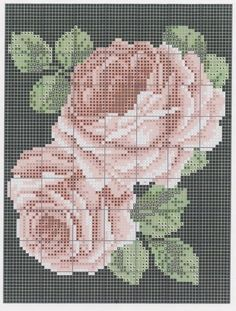 This Pin was discovered by Sve Simple Cross Stitch, Cross Stitch Rose, Cross Stitch Flowers, Cross Stitch Kits, Cross Stitch Designs, Cross Stitch Patterns, Cross Stitching, Cross Stitch Embroidery, Embroidery Patterns