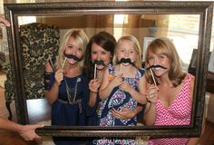 homemade photo booth...for a baby shower!