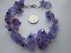 Bracelet Petula Purple in Lucite £11.00