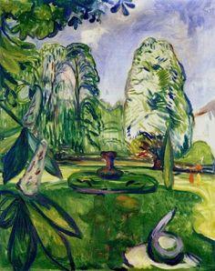 Edvard Munch (Norwegian, 1863-1944), Chestnut Trees, 1906. Oil on canvas, 101 x 80 cm.