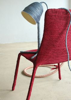 'Conceived' chair and lamp . 2011 . Salvatore Franzese at DMY