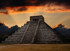 Mayan pyramid in Chichen-Itza, Mexico. Ancient mayan pyramid in Chichen-Itza, Me , The Places Youll Go, Places To See, Chichen Itza Mexico, Adventure Holiday, Adventure Travel, Seven Wonders, Mayan Ruins, Going On Holiday, Lost City