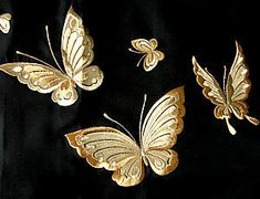 Japanese Embroidery Kimono japanese kimono detail of embroidery - Chinese Embroidery, Sashiko Embroidery, Gold Embroidery, Embroidery Patterns Free, Machine Embroidery Designs, Embroidery Stitches, Beginner Embroidery, Embroidery Tattoo, Embroidery Scissors