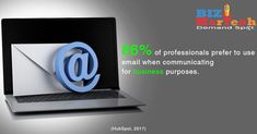 86% of professionals prefer to use email when communicating for business purposes #business #email #communicating #professionals #emailcampaigns #emailmarketing