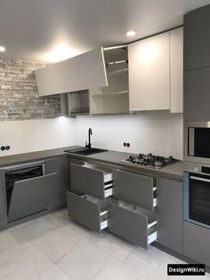 Modern Kitchen Interiors, Luxury Kitchen Design, Kitchen Room Design, Modern Kitchen Cabinets, Interior Design Kitchen, Home Decor Kitchen, Kitchen Modern, Kitchen Cupboard Designs, Kitchen Modular